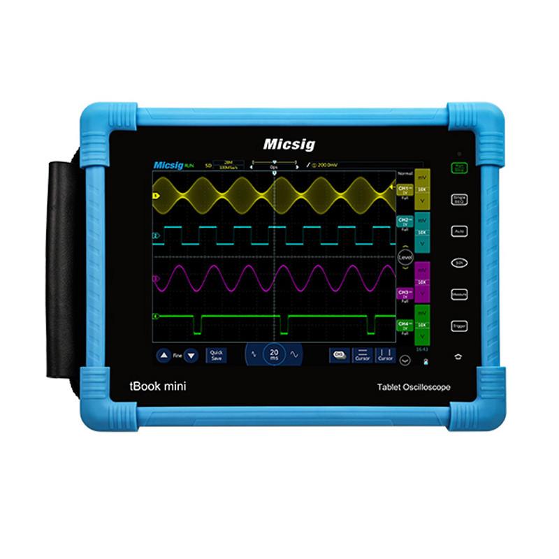 Micsig Tbook TO1102 - Osciloscopio Táctil Portátil 100MHZ / 2 Canales - Frontal